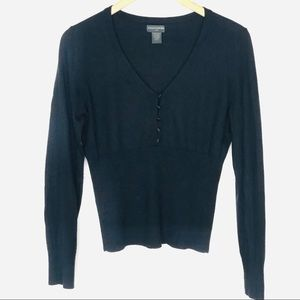 Banana Republic Silk Cashmere V Neck Sweater L